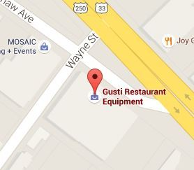 Google map to Gusti Restaurant Equipment